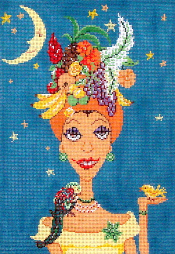 Carmen Miranda   (handpainted from The Meredith Collection) 19*C585