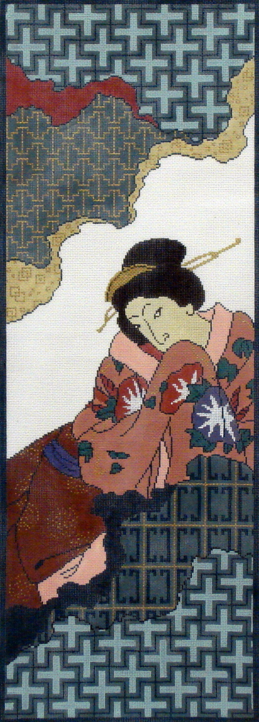 Geisha Panel    (Handpainted by Red Thread Designs) 18*511