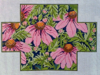 Pink Echinacea Brick Cover (Handpainted by Whimsy & Grace)
