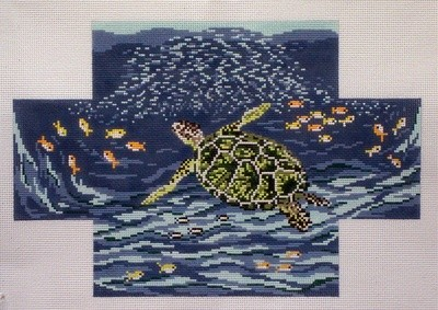 Sea Turtle Brick Cover      (handpainted by Needle Crossing)