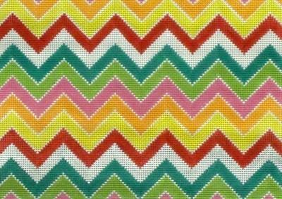 Multi Colored Chevron      (handpainted by Alice Peterson)