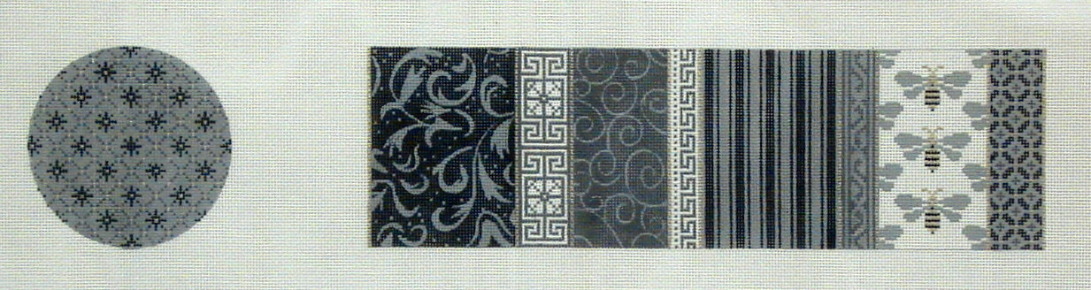 Treasure Box, Gray & White Patchwork and Bees    (JP Designs)