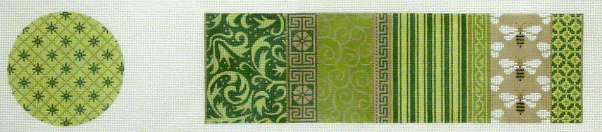 Treasure Box,  Green Patchwork with Bees   (JP Designs)