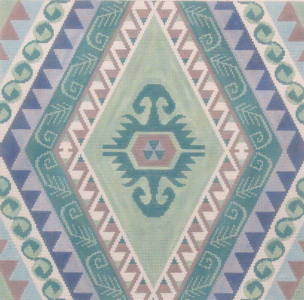 Kilim II A     (handpainted needlepoint canvas by Susan Roberts)