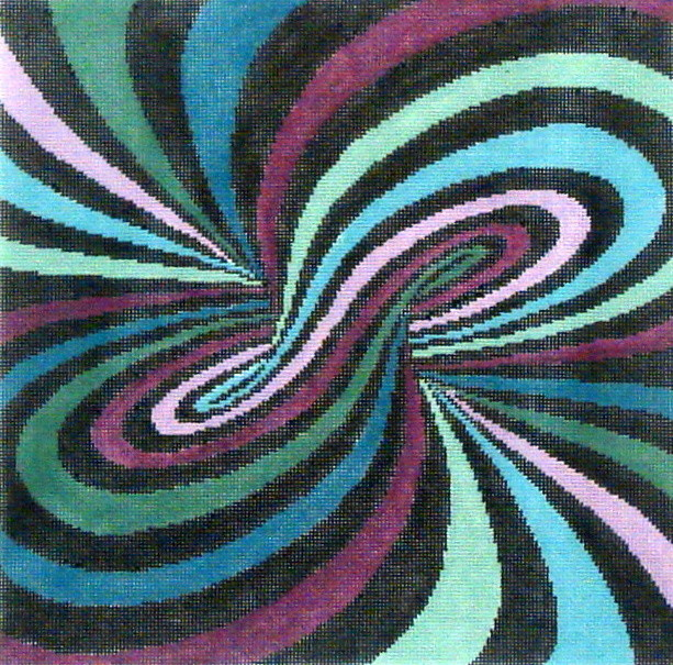 Spiral Illusion  (handpainted by Susan Roberts)