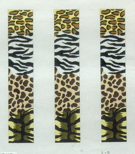 Animal Skins Collage Luggage Straps  (handpainted by Meredith Collection)