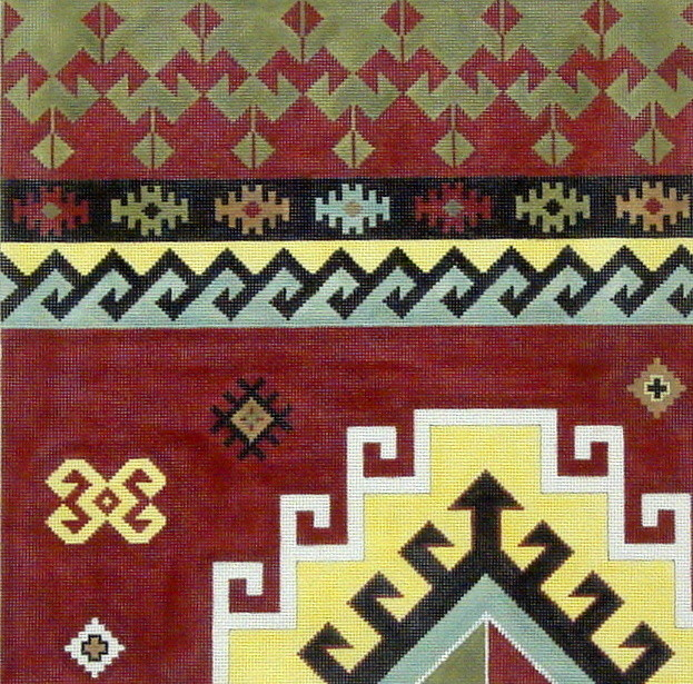 Kilim I A  (handpainted canvas by Susan Roberts)