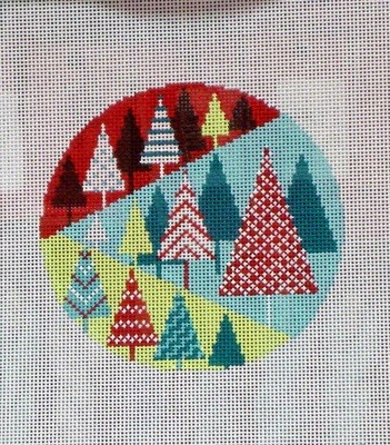 Festival of Trees Round (Handpainted by Shelly Tribbey Designs)