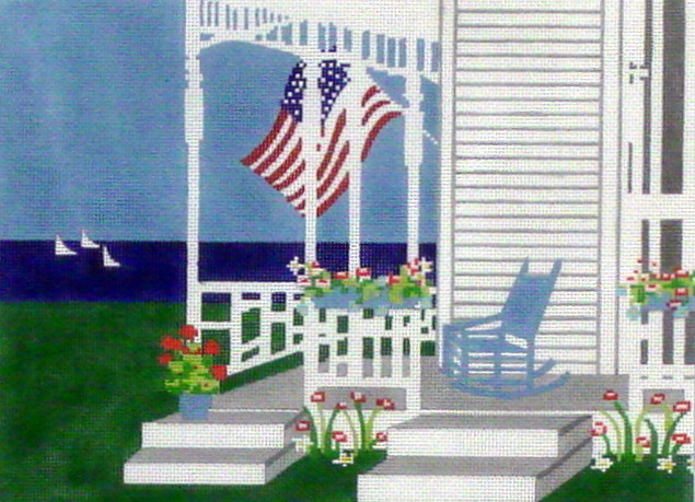 Cape Cod Beach       (Hand painted from Wellesley Needlepoint Collection)