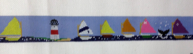 Sailboat Race Belt (Handpainted by Itz A Stitch)