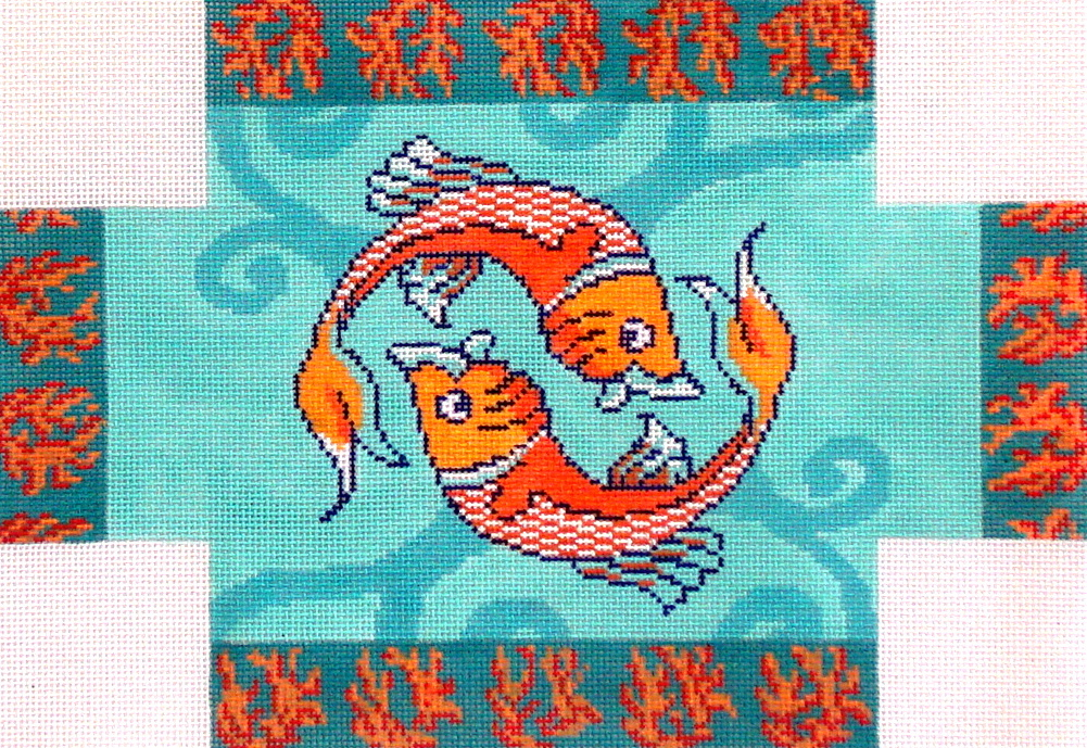 Koi     (handpainted from HSN Designs) 19*CLBR-134