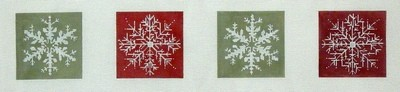 Snowflake Coasters    (Handpainted by CBK Needlepoint Collection)