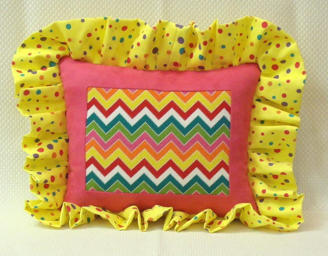 Multi Colored Chevron      (handpainted by Alice Peterson)