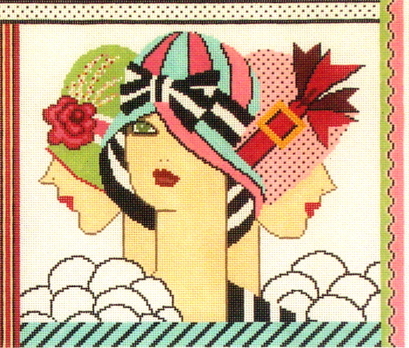 Hat Trick Trio  (stitched painted from Shelley Tribbey Designs 19*FL48