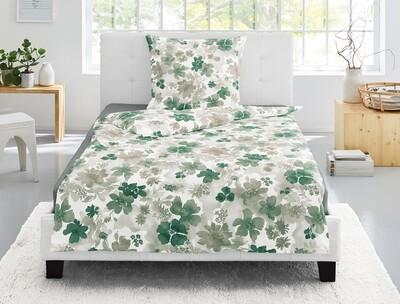 Oboustranné povlečení Irisette EOS - Květy zelené 8066