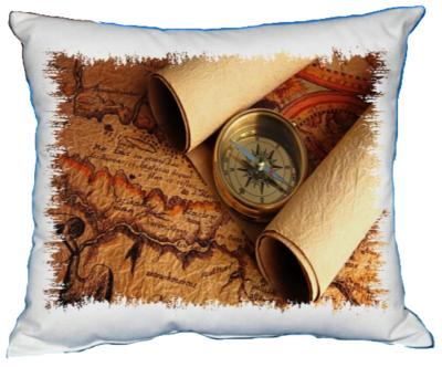 Polštářek Zlatý kompas