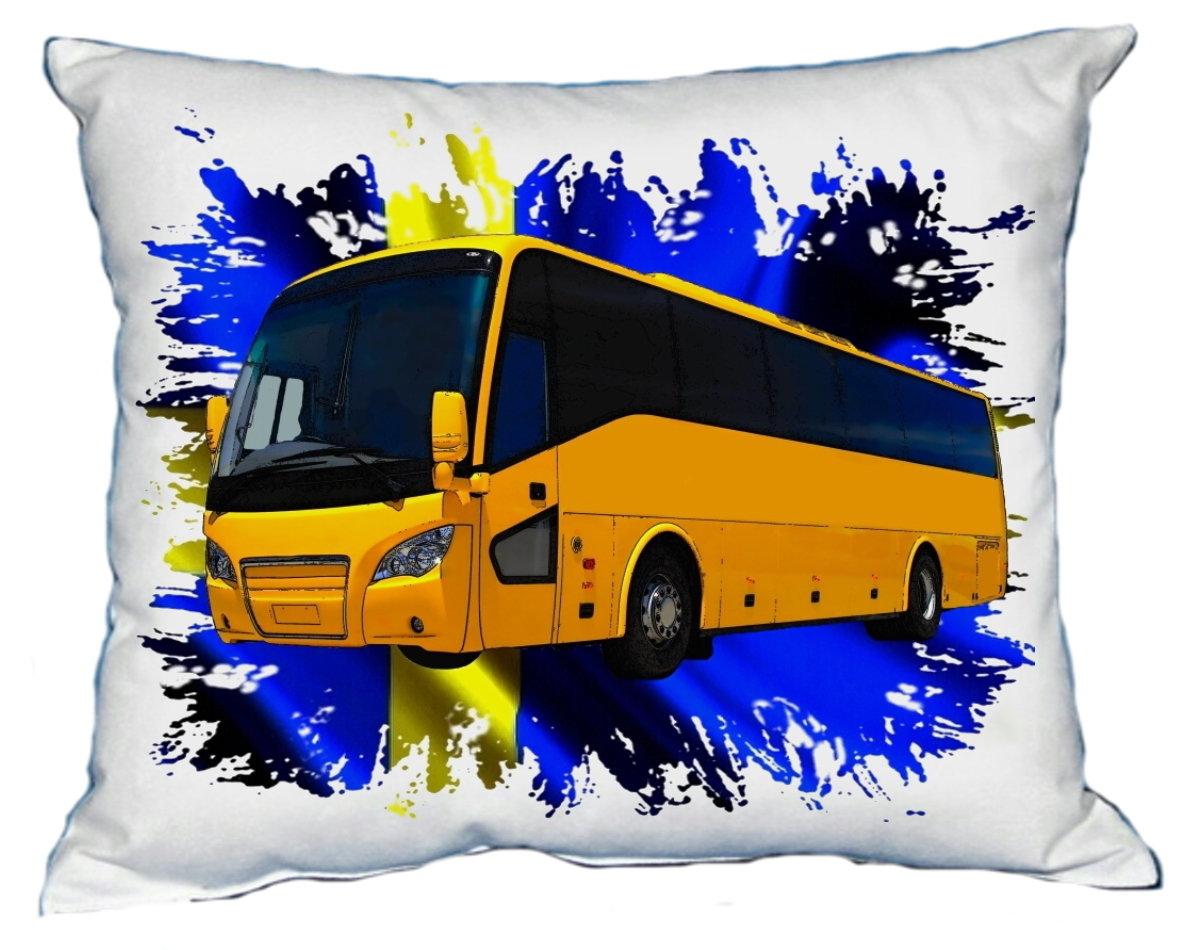 Polštářek Žlutý autobus