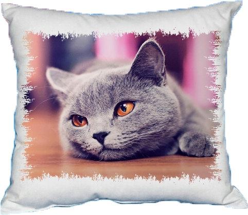 Polštářek Kočka šedá