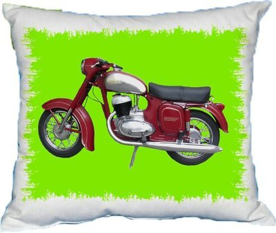Polštářek Starý motocykl Jawa
