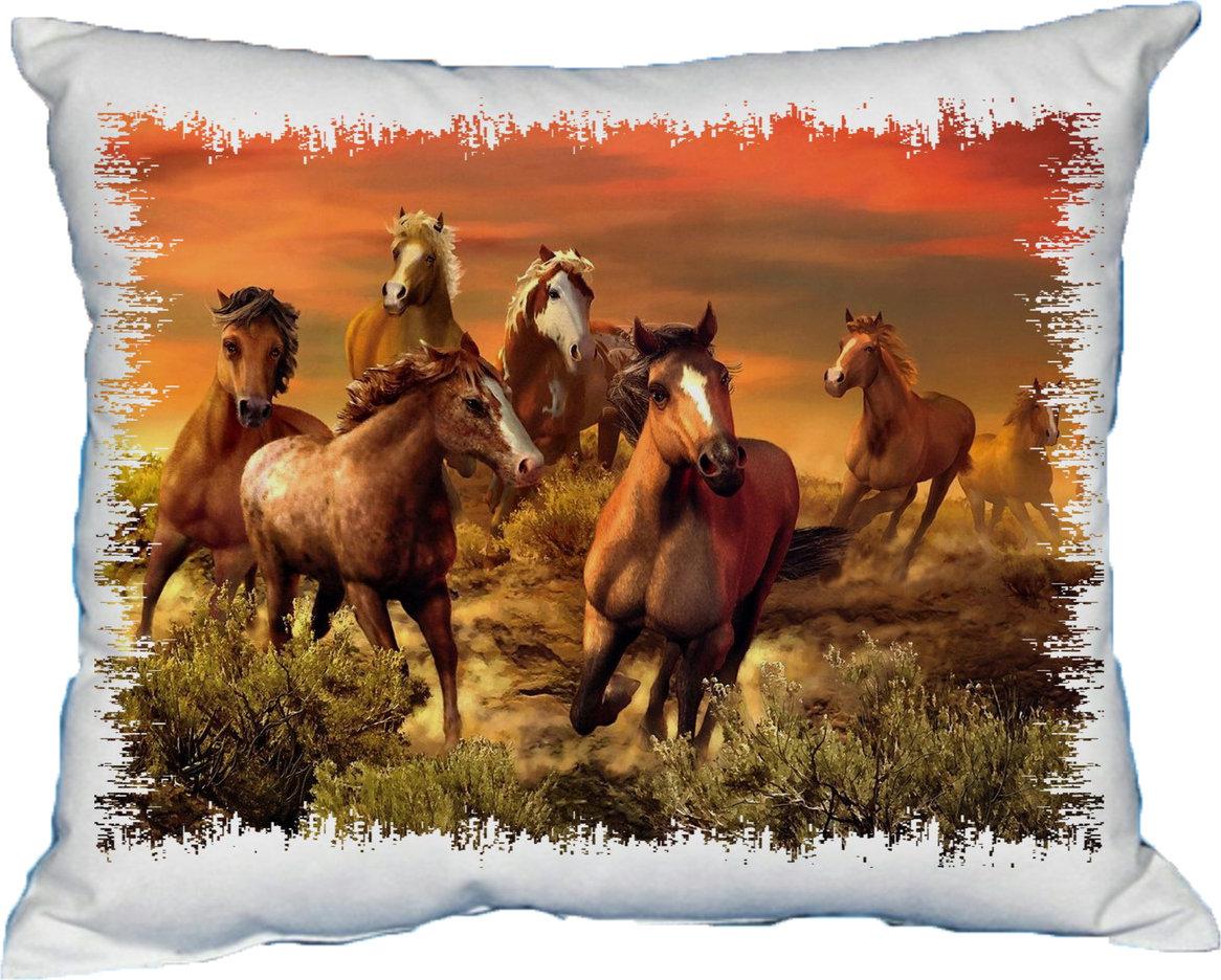 Polštářek Stádo koní