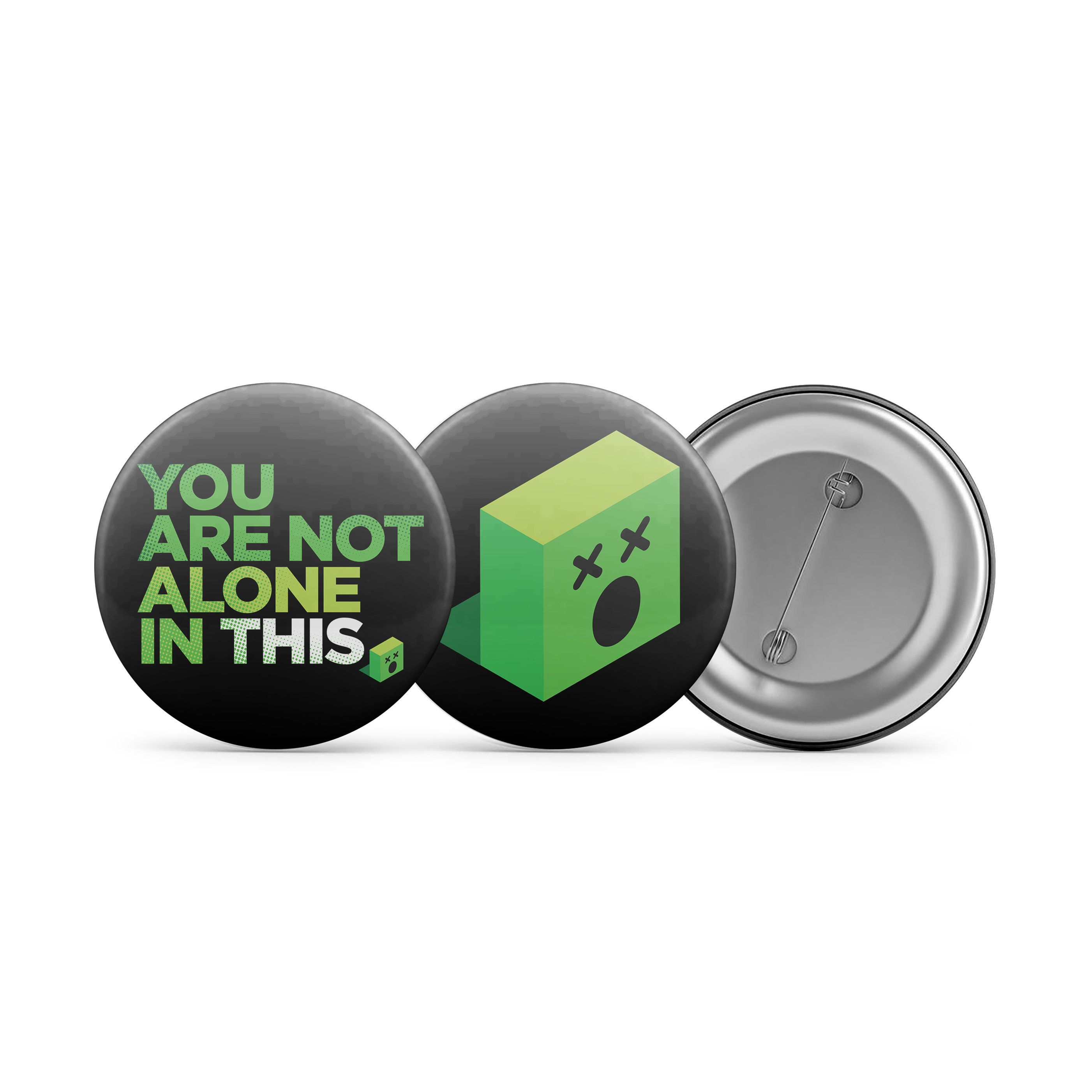You Are Not Alone in This - The Emoji Art Show Tour 2019 Button Pin Pack 00000