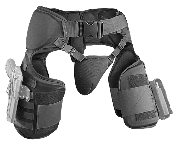 Molle System on both thighs