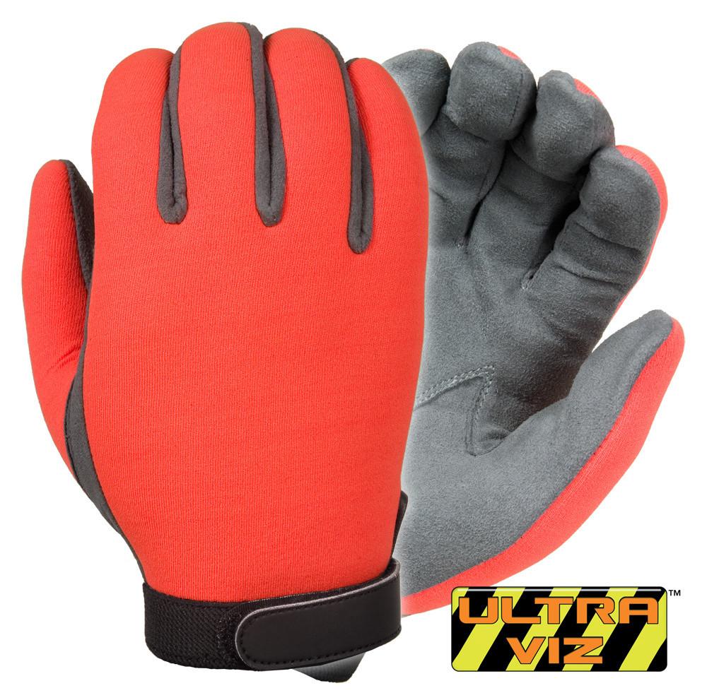 UltraVIZ™ - Unlined high visibility neoprene (Orange)