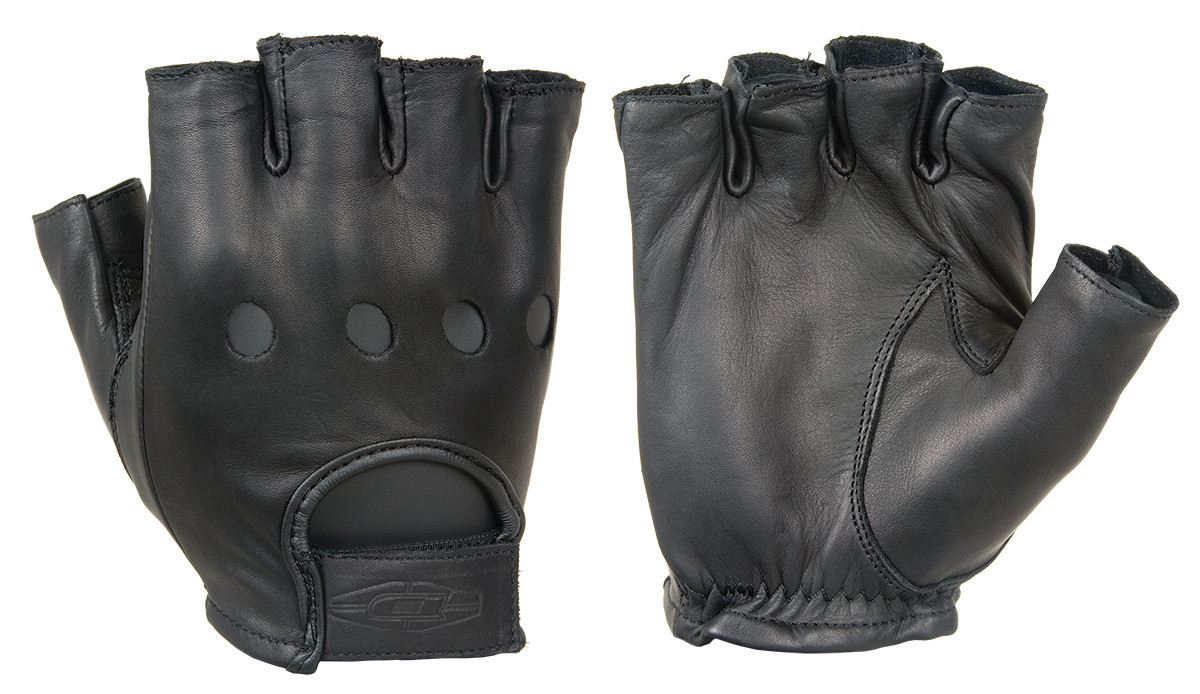 Premium leather driving gloves (½ Finger)