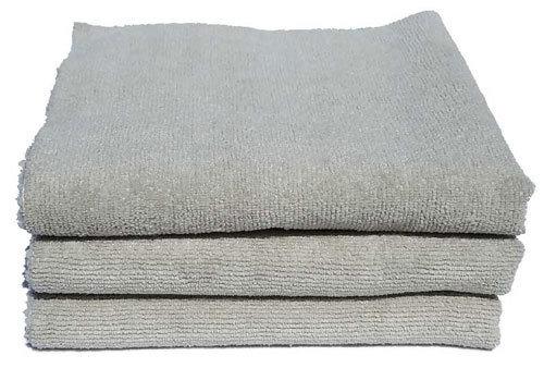 3-pk 16 x 16 Edgeless Exterior Gray Ultra Plush Microfiber Detailing Towel DD-1054