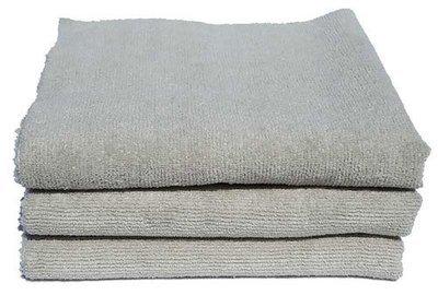 3-pk 16 x 16 Edgeless Exterior Gray Ultra Plush Microfiber Detailing Towel