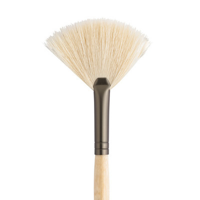 White Fan Brush
