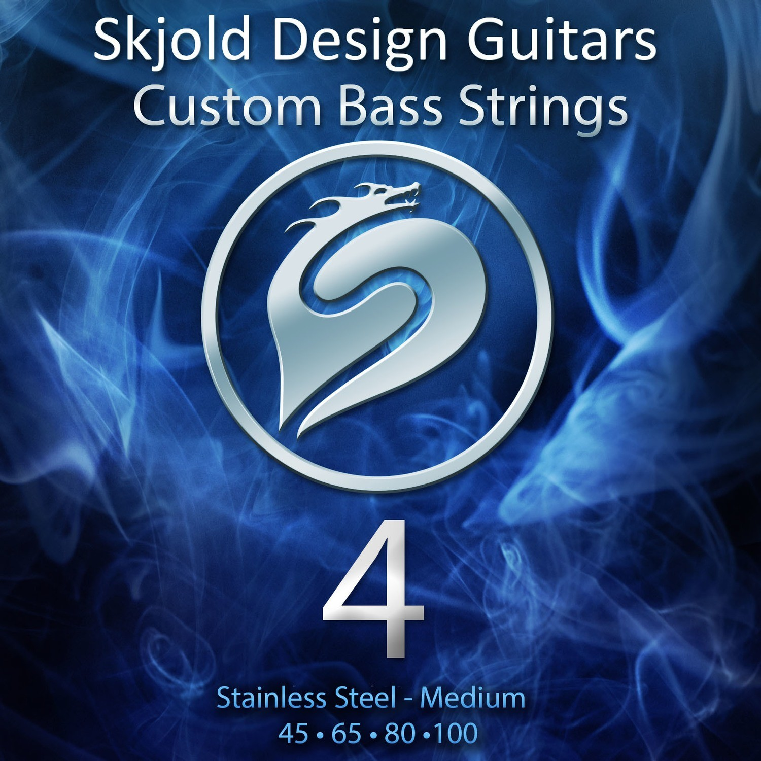 Stainless Steel - 4 String Medium