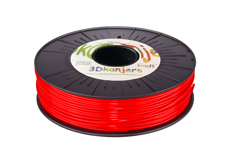 3Dkanjers PLA-Filament Rood 3Dk0004
