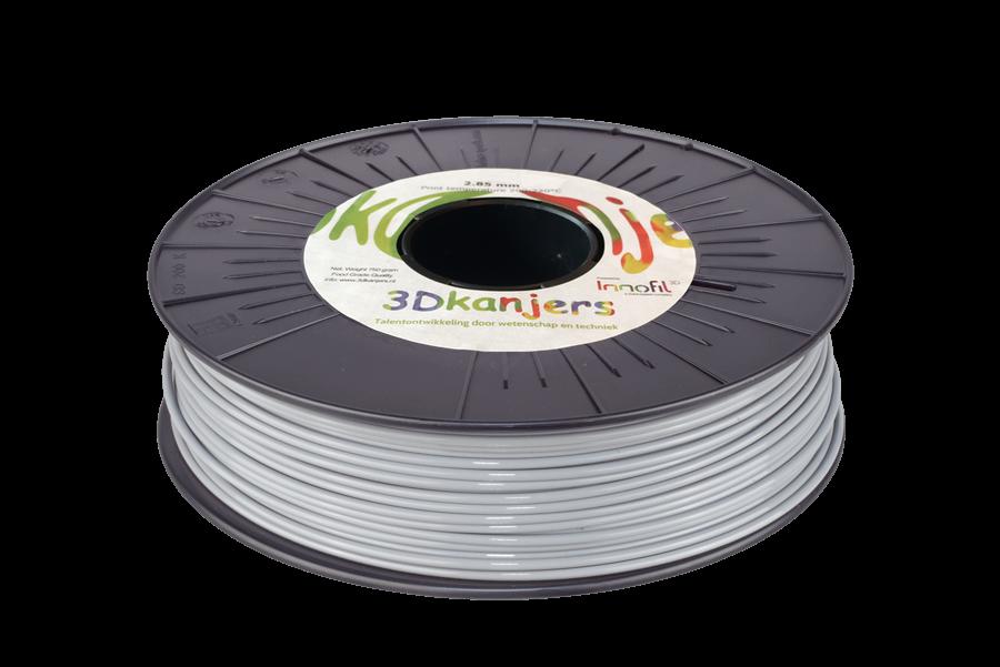 3Dkanjers PLA-Filament Grijs 3Dk0023