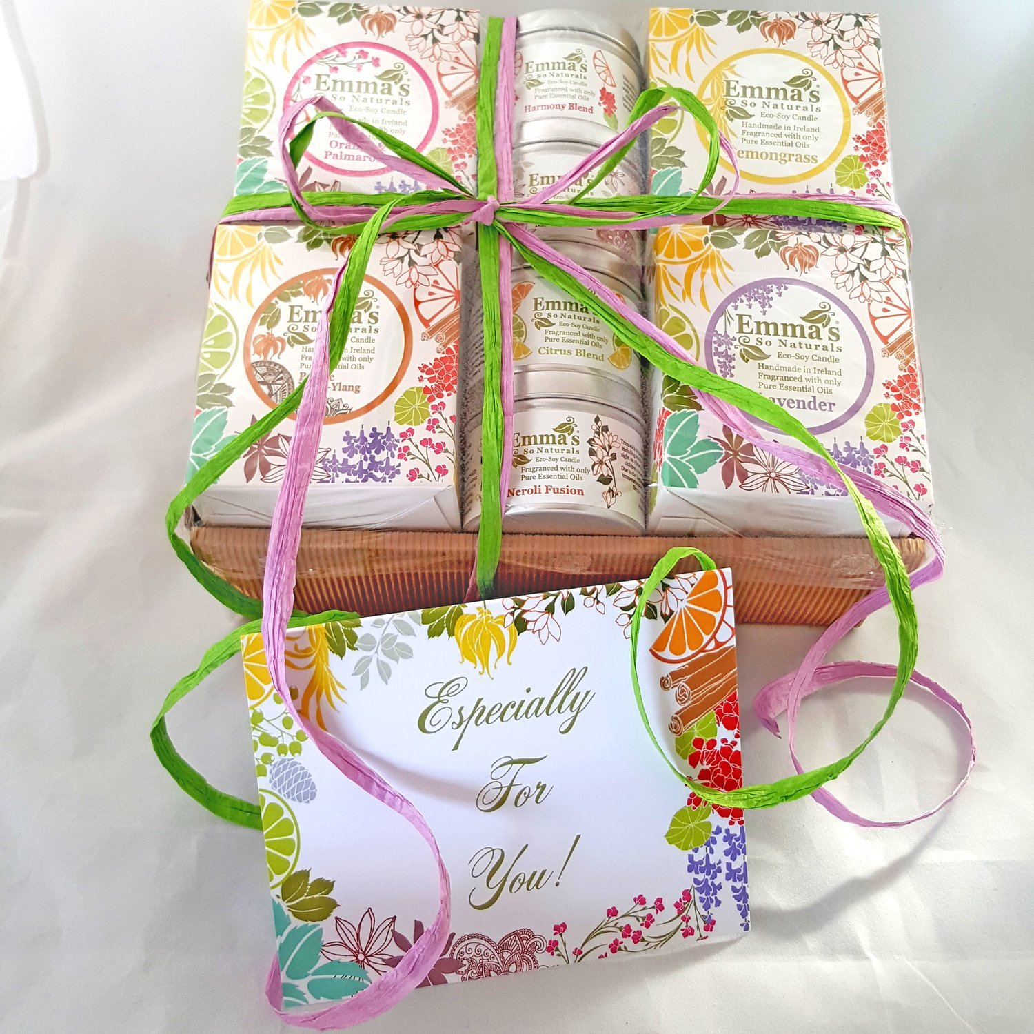 Gift wrap cellophane ribbon hand written greeting card m4hsunfo