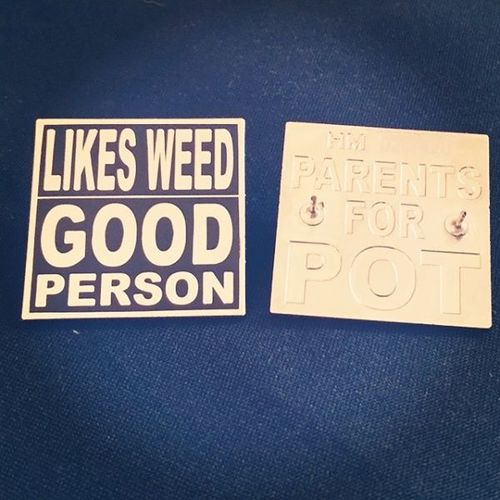 Likes Weed Good Person P4P Collector Pins