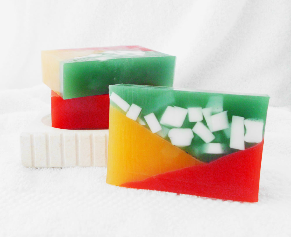 Rainbow Hex Glycerin and Goat Milk Soap