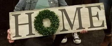 HOME with Wreath HomeWreath