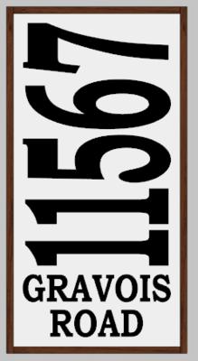 Framed Address Sign