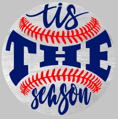 Round Tis The Season Baseball