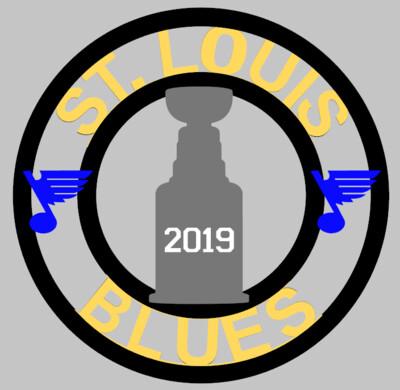 Blues 2019 Cup Wood Door Hanger