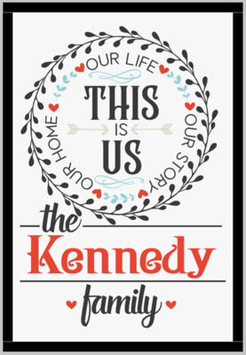 This is Us Personalized family Name (framed)