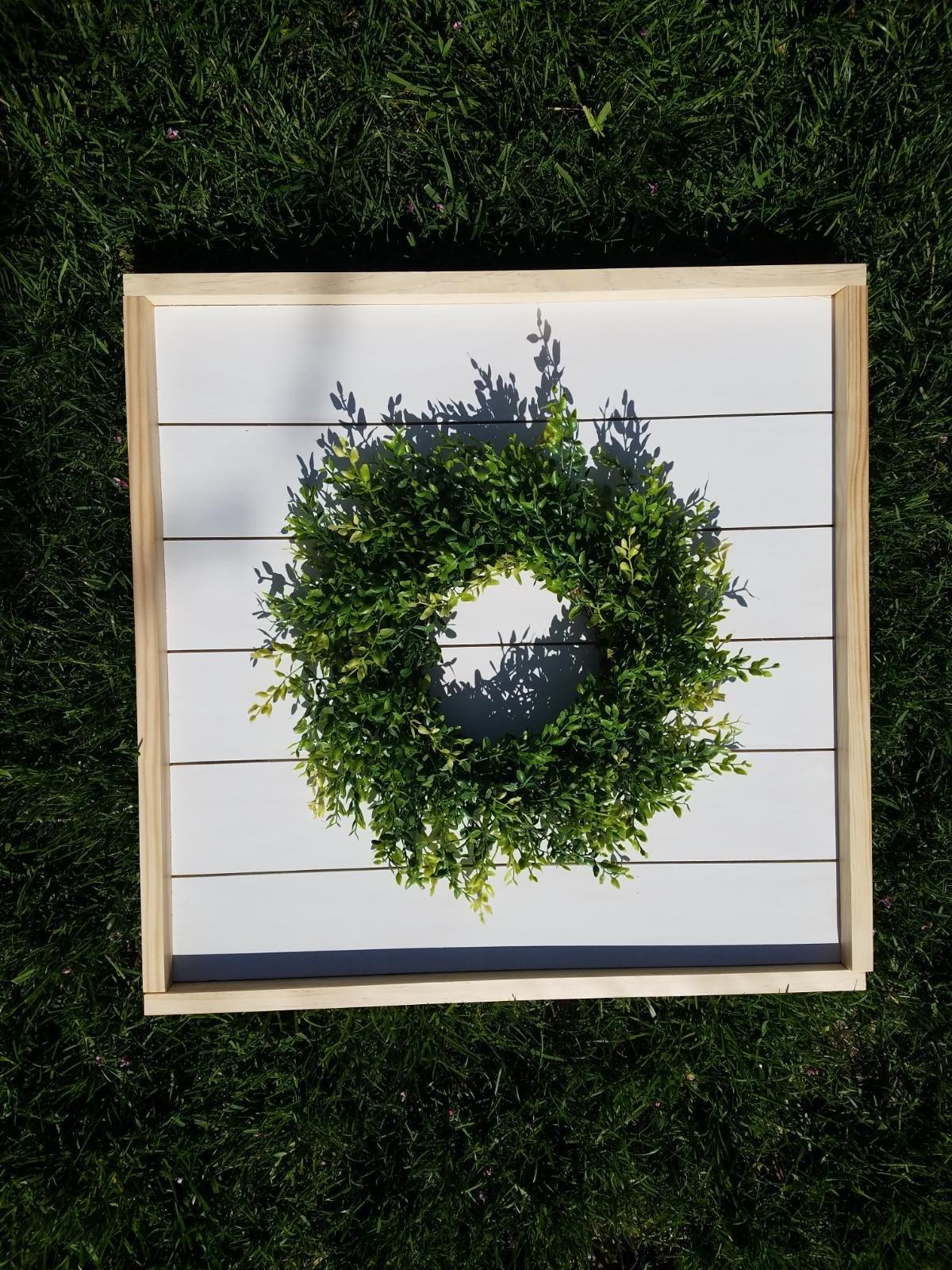 Framed Shiplap Wreath 4/26