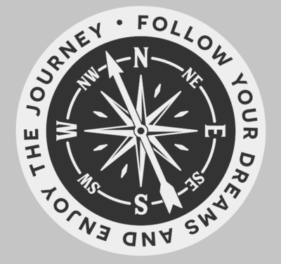 Round Follow Your Dreams Compass