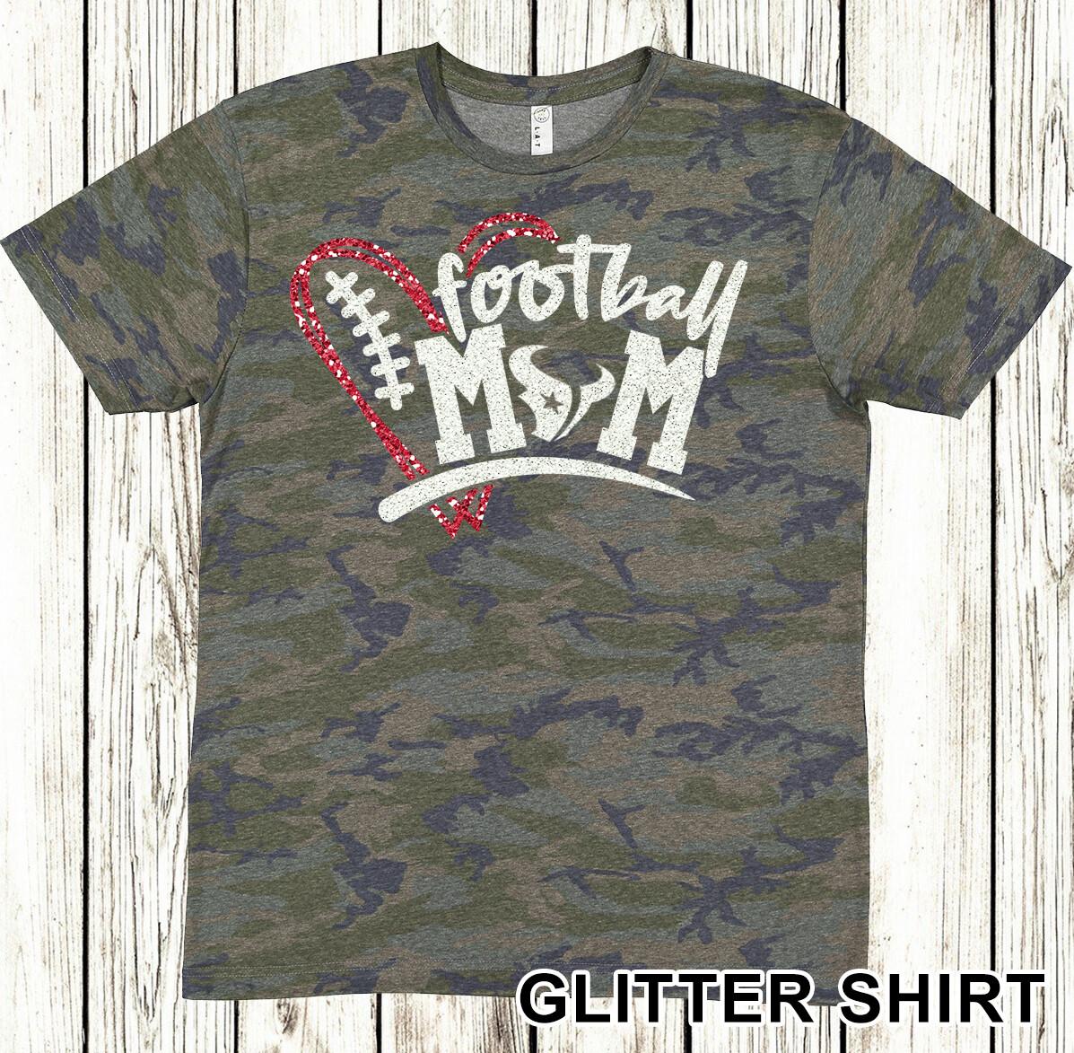 Glitter Football Mom shirt