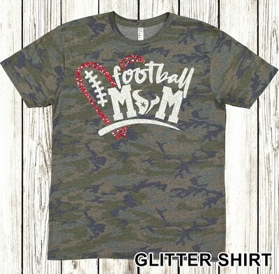 Glitter Football Mom shirt