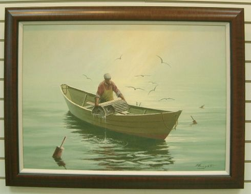 Lobster Fisherman (Canvas Price Without Frame) 00038