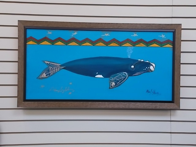 Blue Whale Canvas Giclee 00157