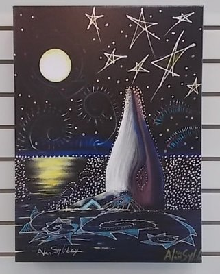 Whale Breaching - Limited Edition Giclee Canvas