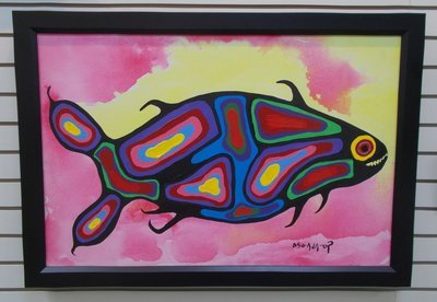 Sacred Trout By Norval Morrisseau